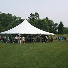 40 x 40 Century tension tent & West Trenton True Value Hardware u003e Rental